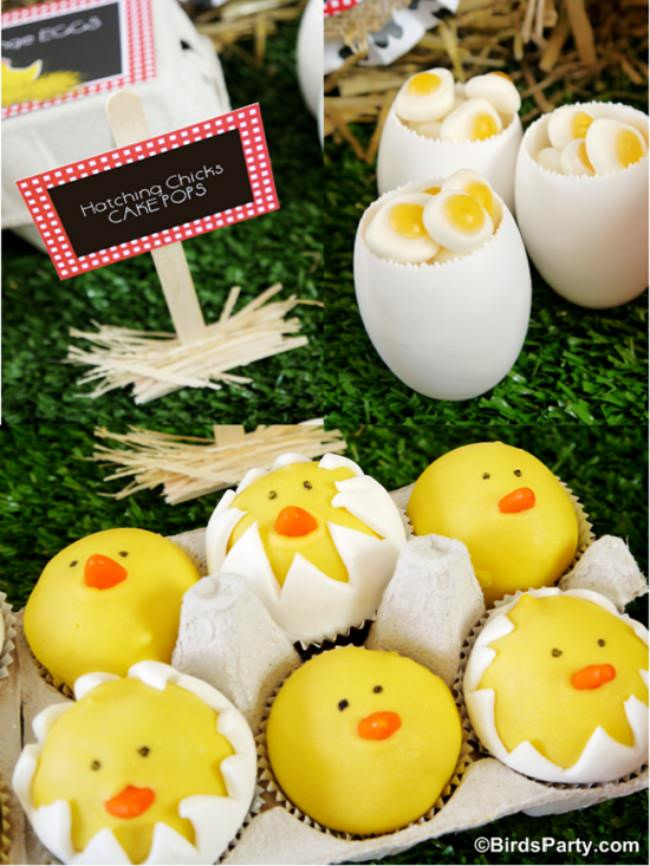 Hatching Chick Cake Pops