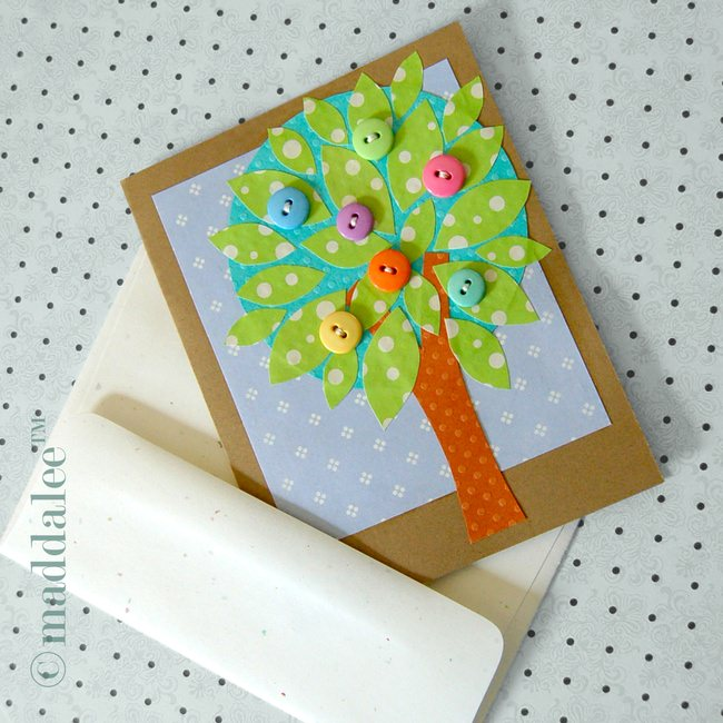 Spring Tree DIY Card Art