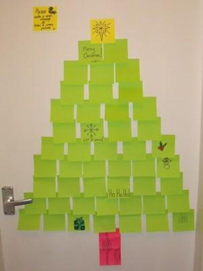 Post-It Note Christmas Tree