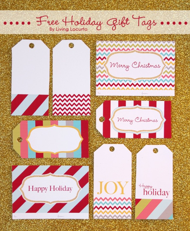 photo relating to Free Printable Santa Gift Tags called 17 Absolutely free Printable Xmas Present Tags Suggestion Junkie