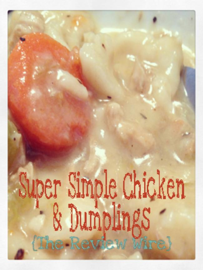 Super Simple Chicken and Dumplings Recipe {Recipe Link Up Too}