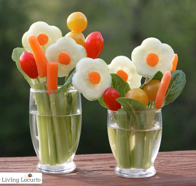 Veggie Bouquets {Food Ideas}