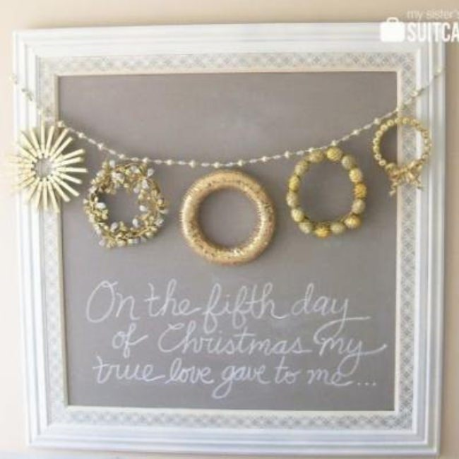 Five Gold Rings Christmas Wreath {christmas diy}