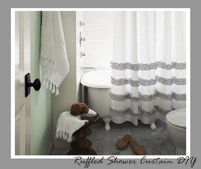 8 How to Make Your Own Shower Curtain Tutorials