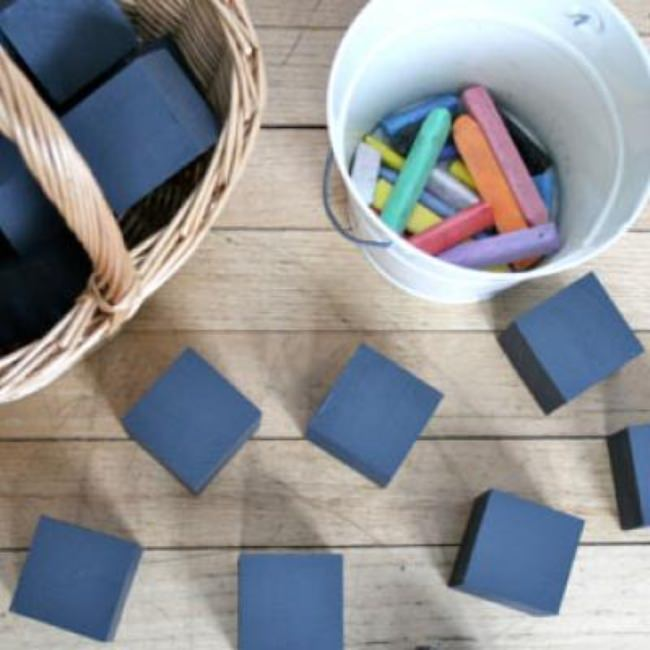 Chalkboard Blocks {Homemade Educational Toys}