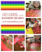 Rainbow Hearts Early Learning Activity