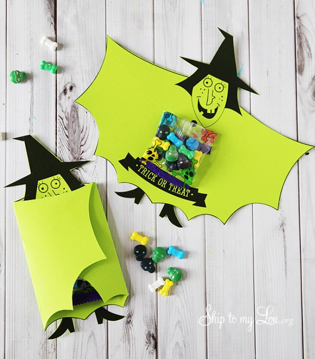 Witch Candy Covers {free printable}