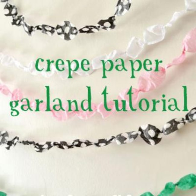 Crepe Paper Garland {party decor}