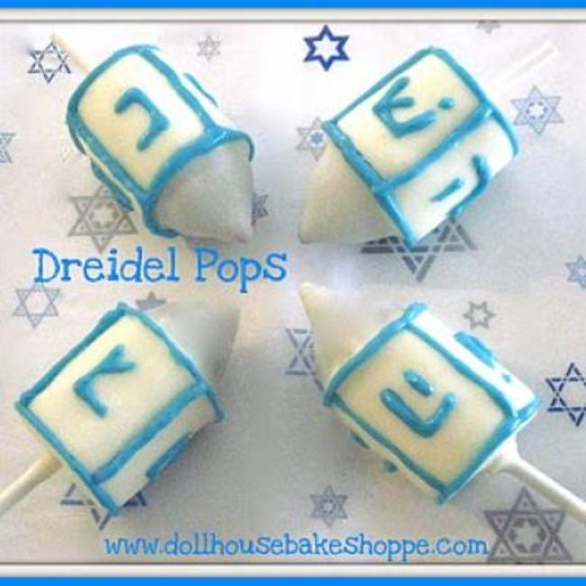Dreidel Pops {Edible Crafts}