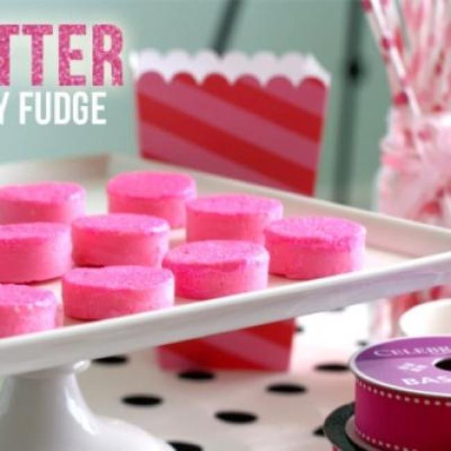 Glitter Party Fudge {party favor}