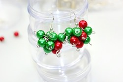 How to make jewelry with beads rapidly-make Christmas beaded earrings in 2