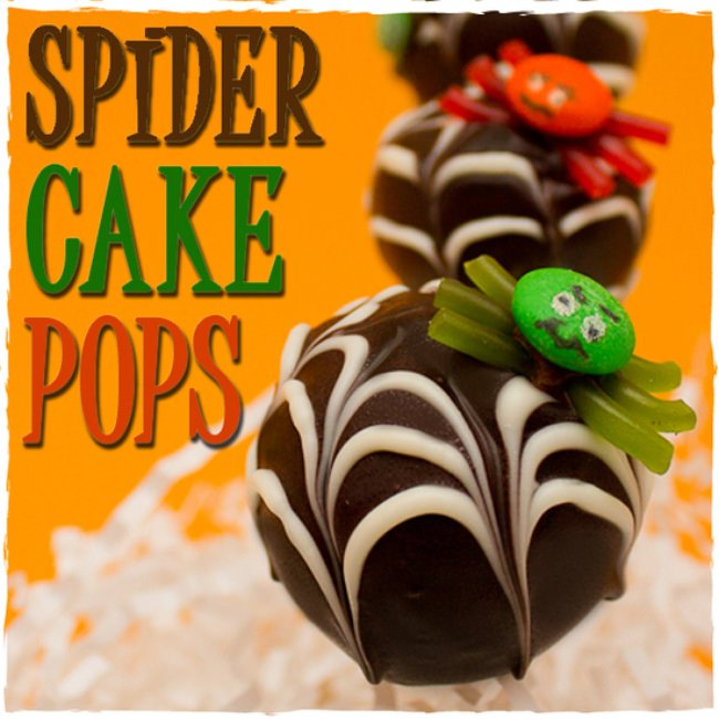 Spider Cake Pops With Webs