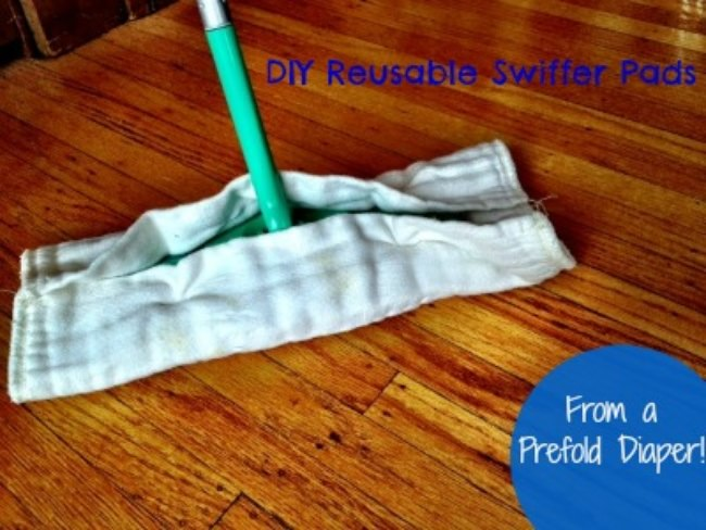 NoSew DIY Reusable Swiffer Cloths