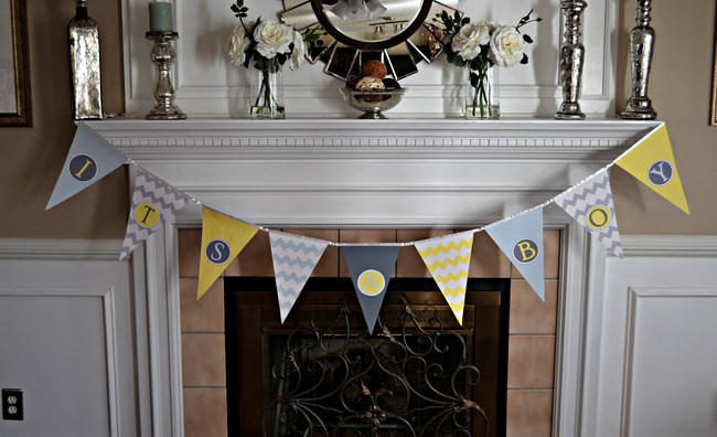 DIY Baby Shower Pennant Banner