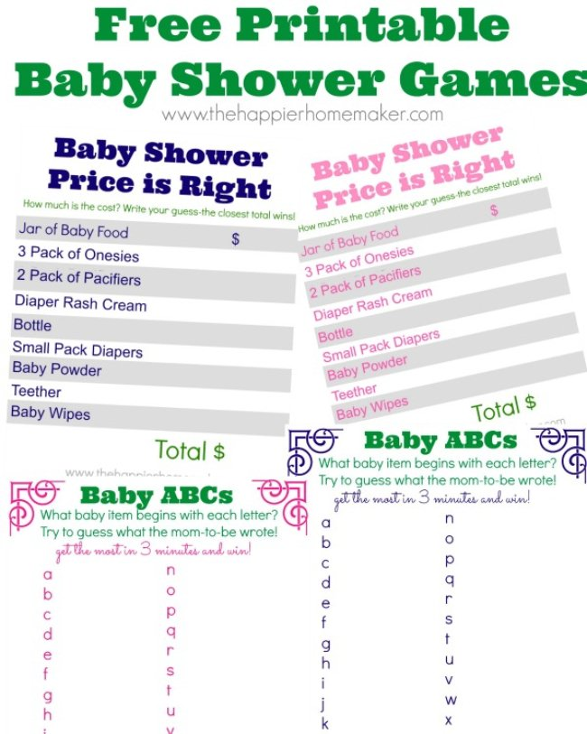 22 Fun Amp Free Baby Shower Games To Play Tip Junkie