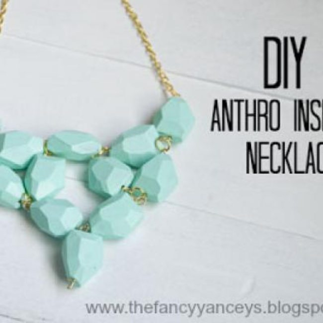 Anthropology Inspired Sea-foam Necklace {Necklaces}