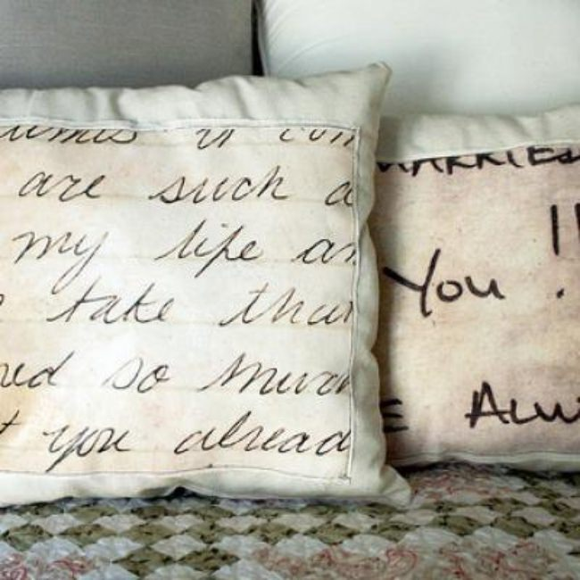 How to Create a Love Letter Pillow {make pillow}