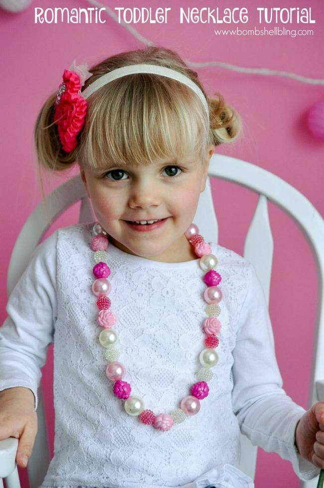 Romantic Flower Toddler Necklace