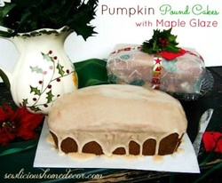 Pumpkin Pound Cakes with Maple Glaze