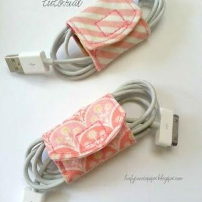 Cord Keeper Made From Scraps {Tech}