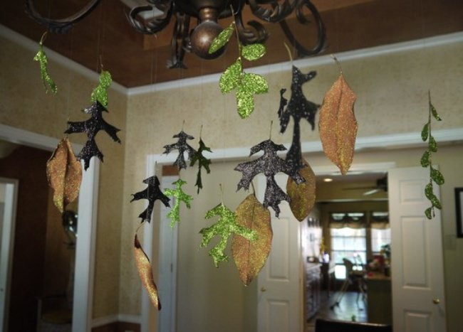 Glam Glittered Leaves