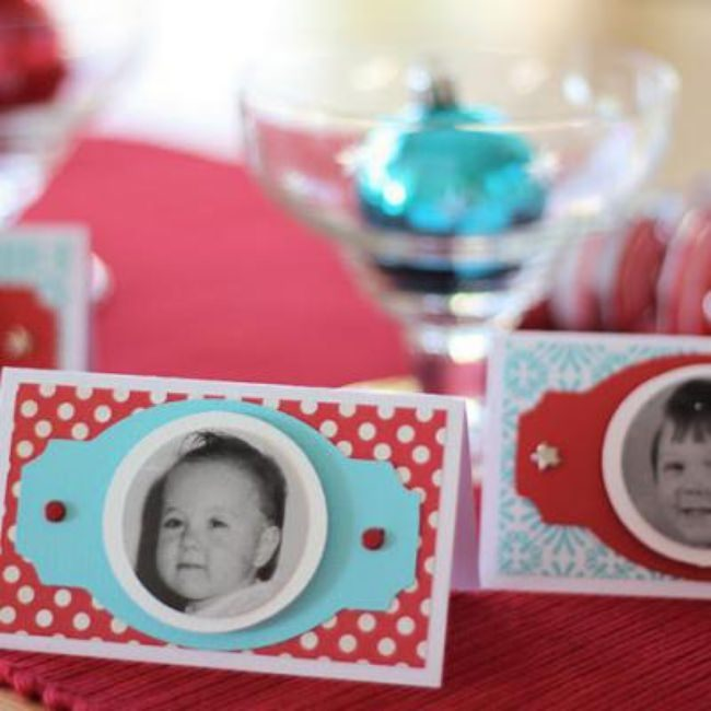 Christmas Photo Place Cards