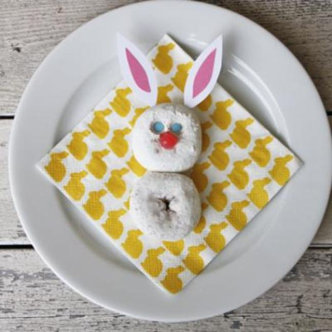 Donut Easter Bunny {Easter Food}