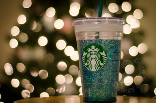 Easy Starbucks Glitter Cup Tutorial