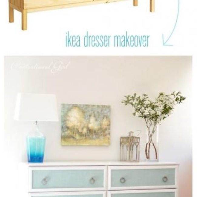 Textured Panel Dresser Makeover {Dressers and Chests}