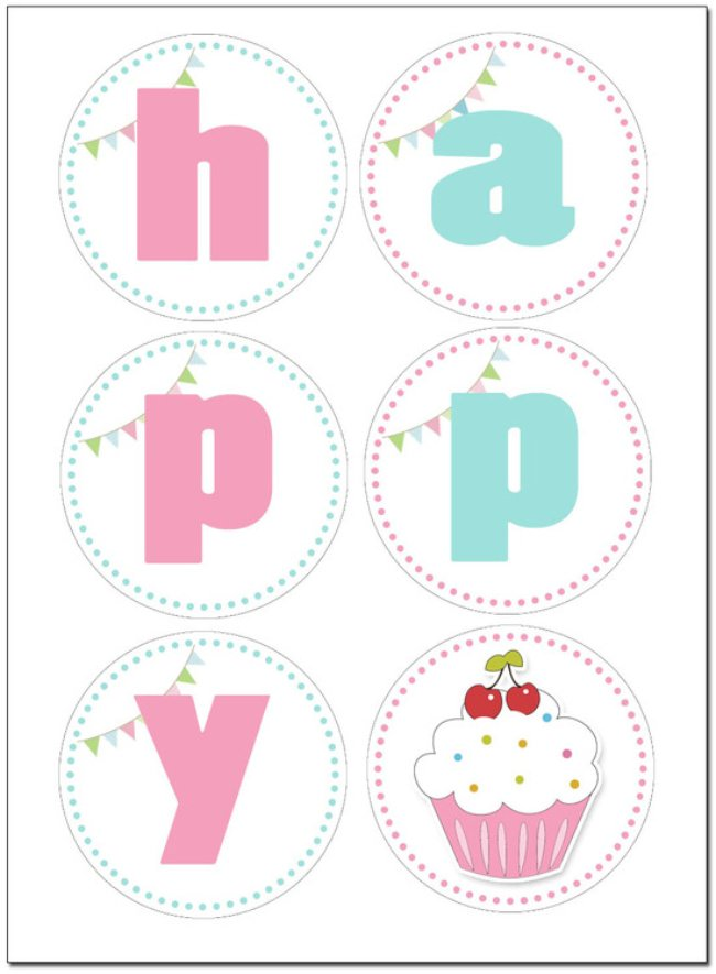 Cupcake Birthday Party FREE Printables
