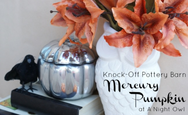 Knock-off Pottery Barn Mercury Pumpkin