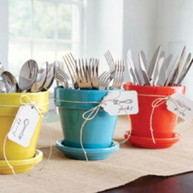 How-To Display Party Utensils