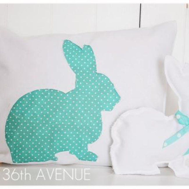 Spring Bunny Pillow {tutorial}