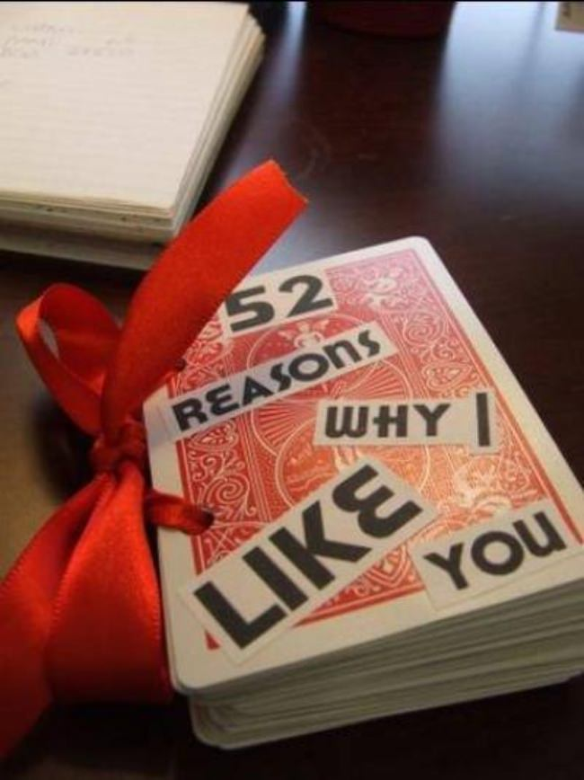 52 Reasons I Love You {homemade gift)
