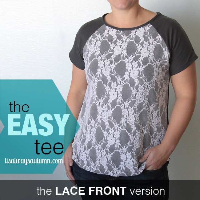 Anthropologie knockoff lace front tee
