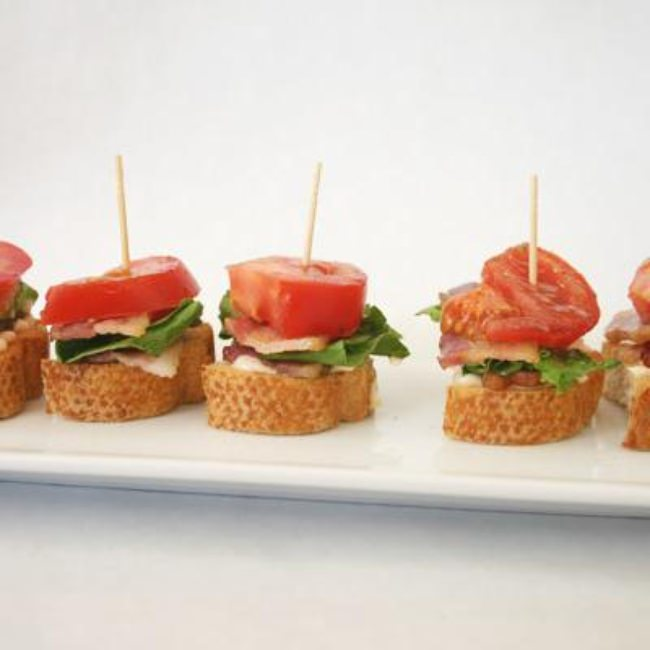 Mini BLT Sandwiches {Appetizers}
