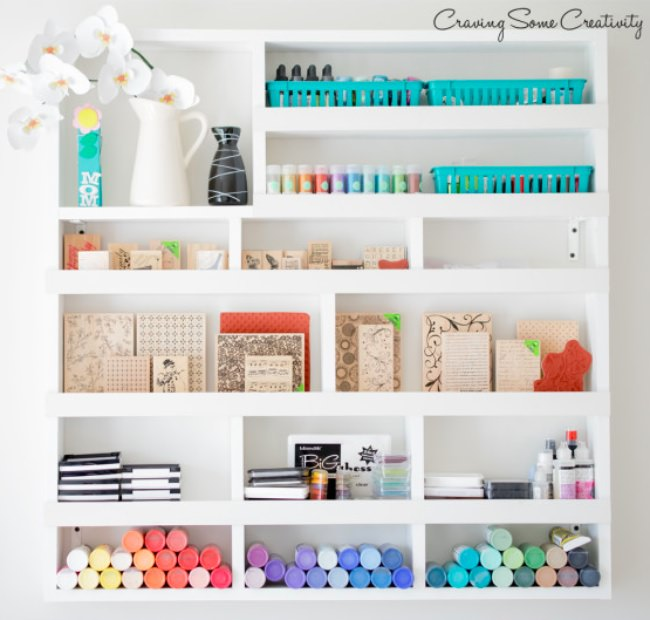 DIY Craft Supply Wall Organizer