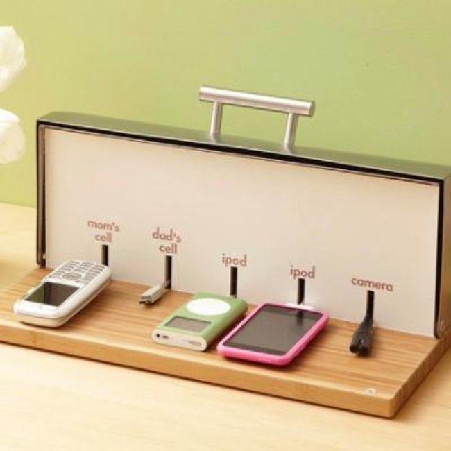 Turn a Breadbox Into A Charging Station {Fun Gadgets}