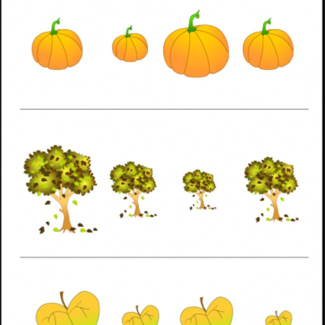 Fall Themed Worksheet {Free Printable Kindergarten Worksheets}