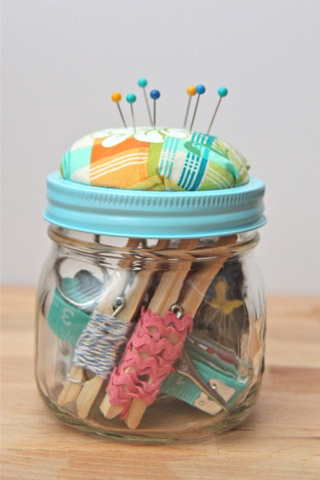 sewing gift in a jar
