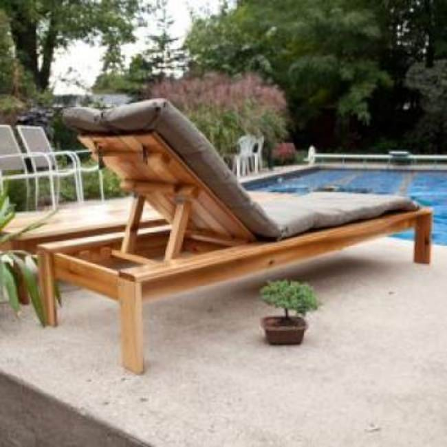Build Your Own Outdoor Chaise Lounge {Chaise & Lounge}