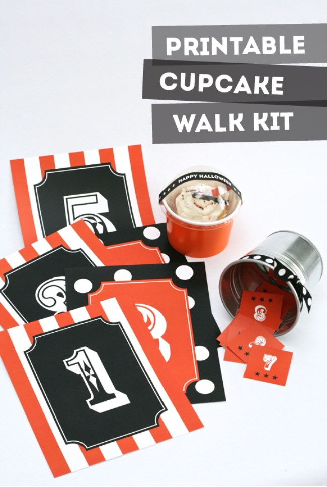 Halloween Carnival Cupcake Walk Kit