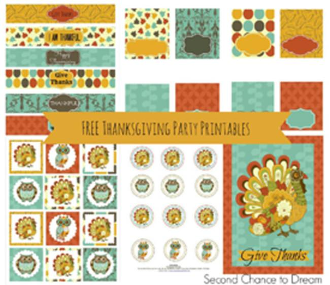 Thanksgiving Party Printables set 1