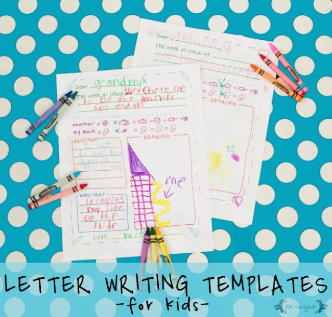 Free Printable Letter Writing Templates for Kids