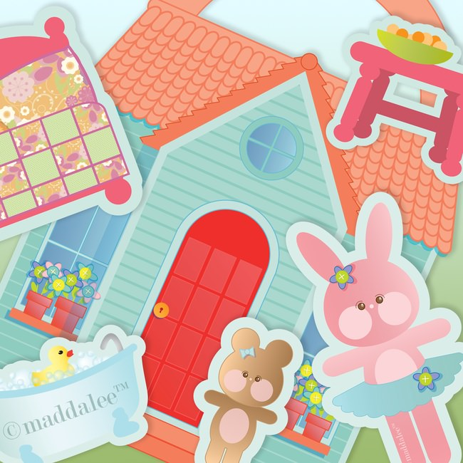 Bitty Bunny DIY Printable Playhouse