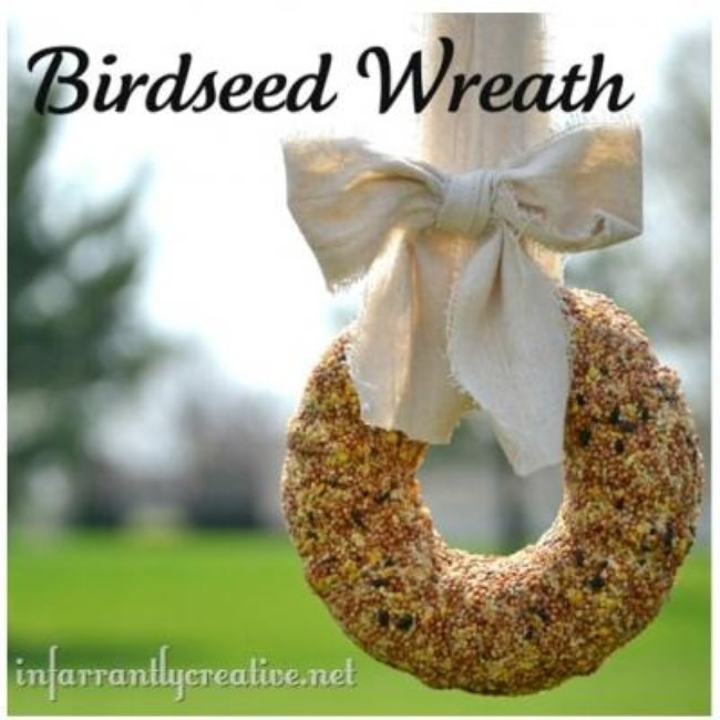 DIY Birdseed Wreath Tutorial