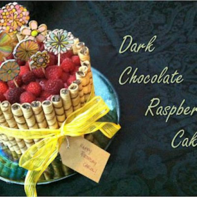 Dark Chocolate Raspberry Cake + Decorating Tutorial