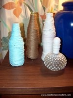 How To DIY Jute and Yarn Wrapped Bottles