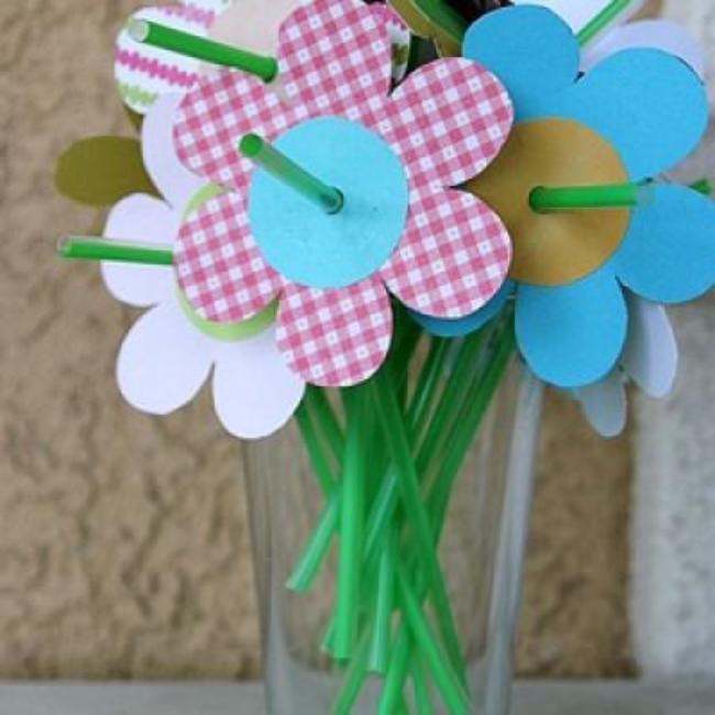 Spring Flower Drinking Straws {Garden Party Theme}