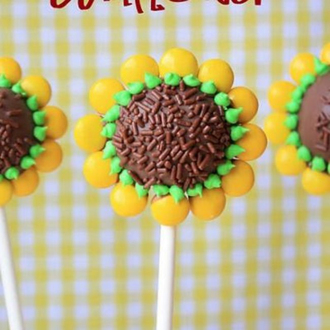 Sunflower Brownie Pops {Food Crafts}